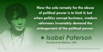Isabel Paterson, God of the Machine, Libertarian, Voluntaryist, Ancap, politics, statism, statist, meme, quote