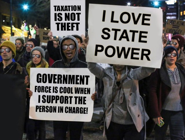 socialism, leftist, statism, protest, protesting, taxation is theft, libertarian, voluntaryism, ancap