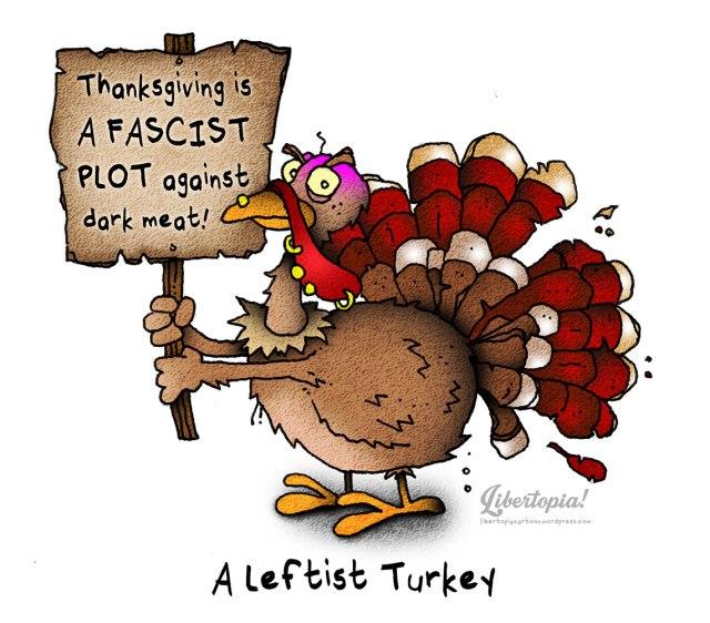 Thanksgiving, turkey, cartoon, leftist, leftism, parody, satire, funny, awesome artwork, libertarian
