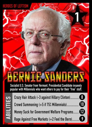 Bernie Sanders, Parody, Socialist, leftism, card game