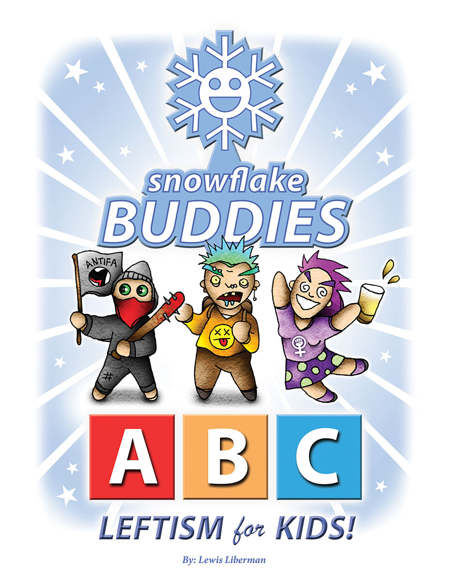 snowflake buddies, leftism, parody, satire, cartoon, graphic novel